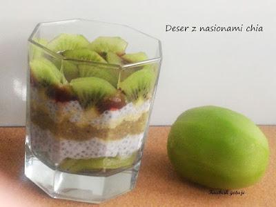 Zdrowy deser z chia i mleczka kokosowego