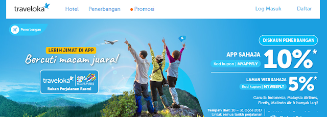Traveloka , Aplikasi Traveloka Percuma , Tawaran hebat Sukan Sea 2017 Bersama Traveloka , Hotel Murah Traveloka, Penerbangan Tambang Murah Traveloka, Traveloka Travel Online Rasmi KL2017