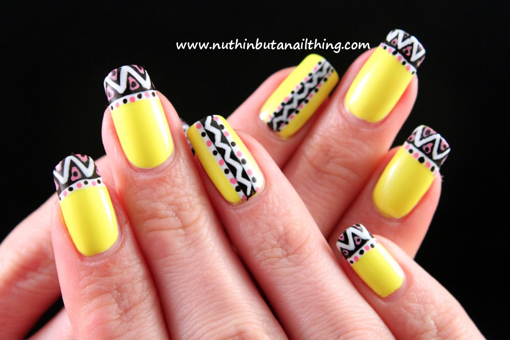 nuthin' but a nail thing  Barry M - Neon Yellow and Neon ...