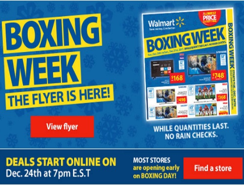 Walmart Boxing Week Flyer