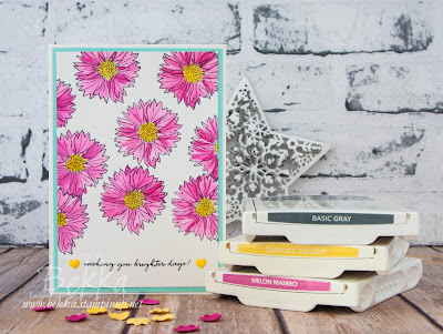 Watercoloured Get Well Soon Card featuring the Touches of Texture Stamp Set from Stampin' Up! UK