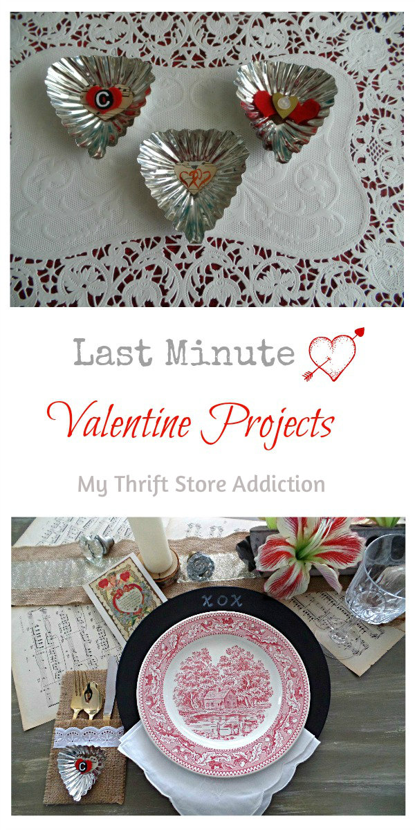 Last Minute Valentine Projects to Show Love Around the Table mythriftstoreaddiction.blogspot.com Festive touches and recipes for your Valentine's Day table
