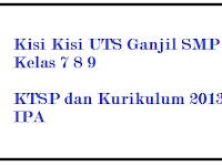 Kisi Kisi UTS IPA SMP Kelas 7 8 9 Semester 1/ Ganjil