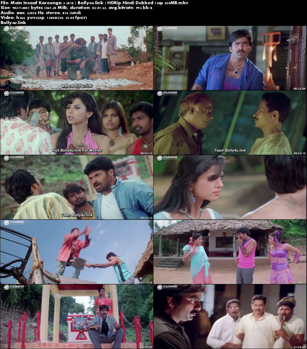 Main Insaaf Karoonga 2 2018 HDRip 850MB Hindi Dubbed 720p Download