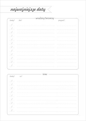 Ważne daty - organizer