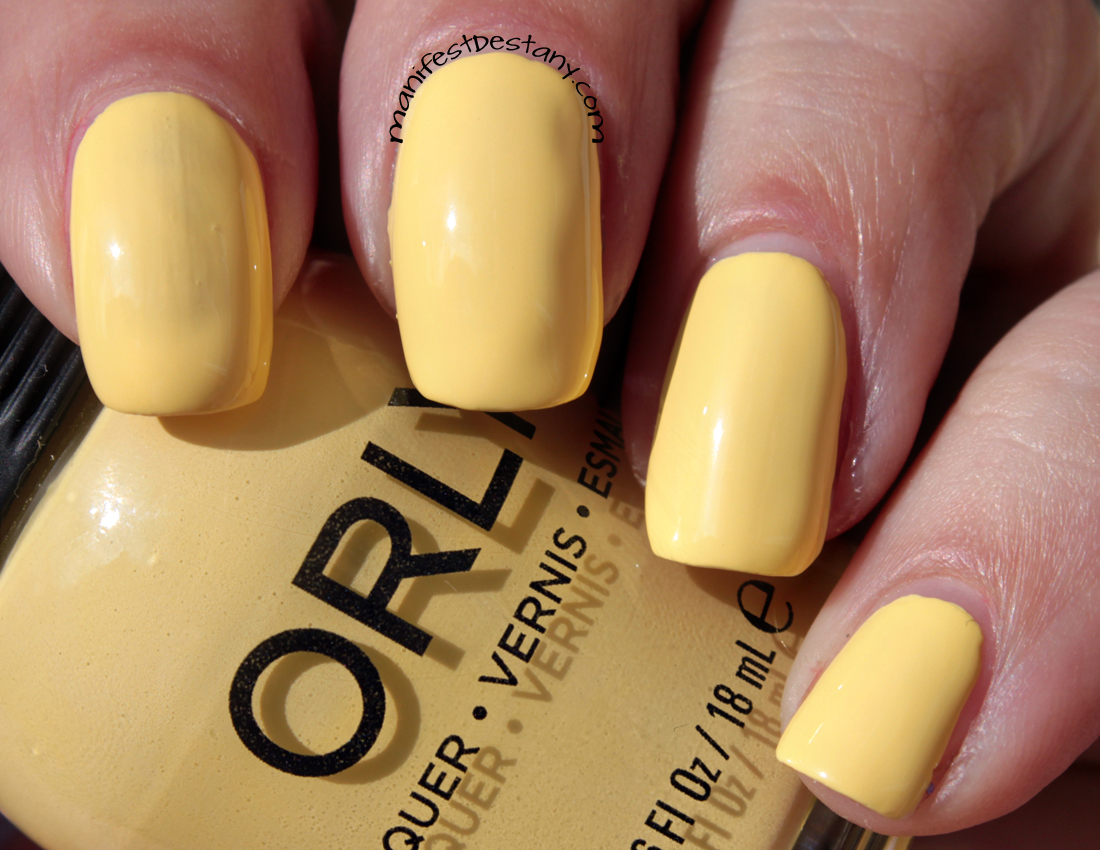 ORLY lemonade, bright, sunny, yellow, nail polish
