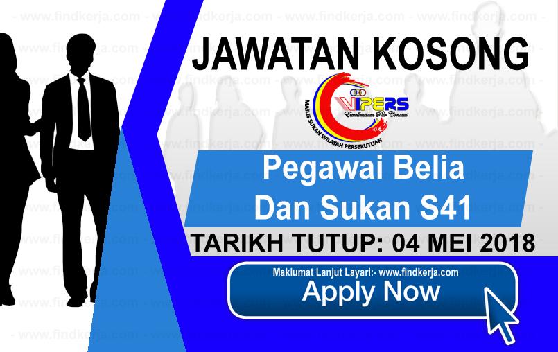 Jawatan Kerja Kosong WIPERS - Majlis Sukan Wilayah Persekutuan logo www.findkerja.com mei 2018