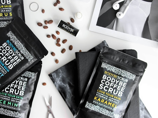bodybe scrub peeling s kávou