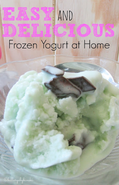 How to make easy and delicious frozen yogurt at home.
