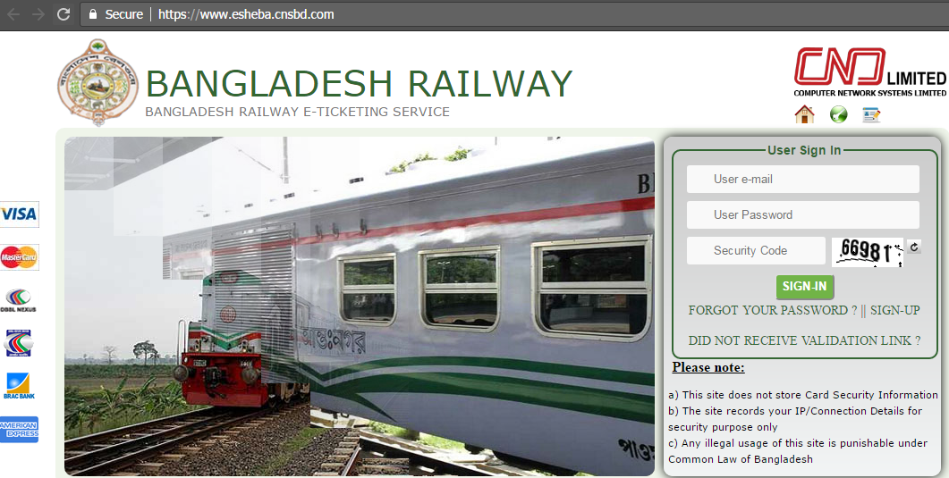 Dhaka to Sylhet Train online ticket