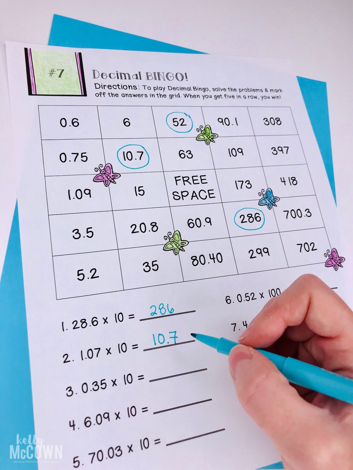 Kelly Mccown Spring Math 5th Grade April
