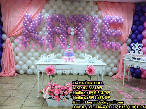 Hình ảnh Thi công backdrop bong bóng đám cưới tại tphcm