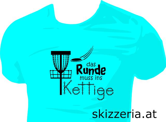 Disc Golf Shirt Das Runde muss ins Kettige
