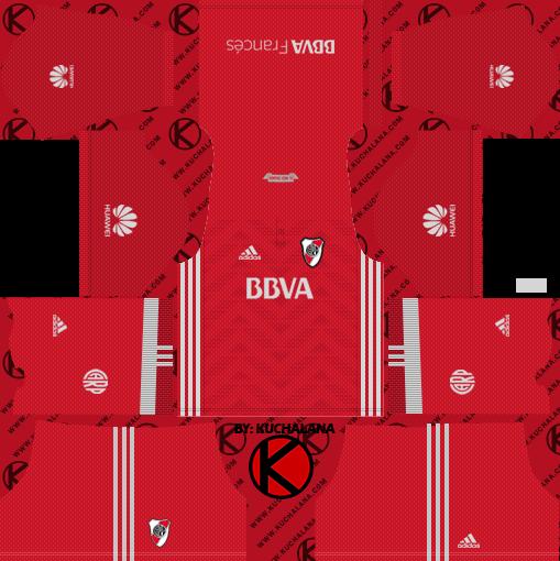 84c6aa7a5fb River Plate 2018 Kit - Dream League Soccer Kits - Kuchalana