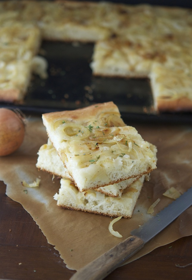 Whole Wheat Focaccia with Caramelized Onions