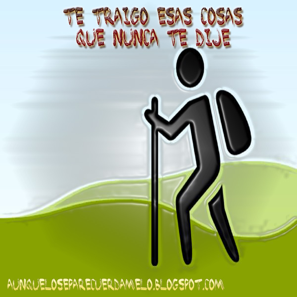 ilustracion caminando con mochila
