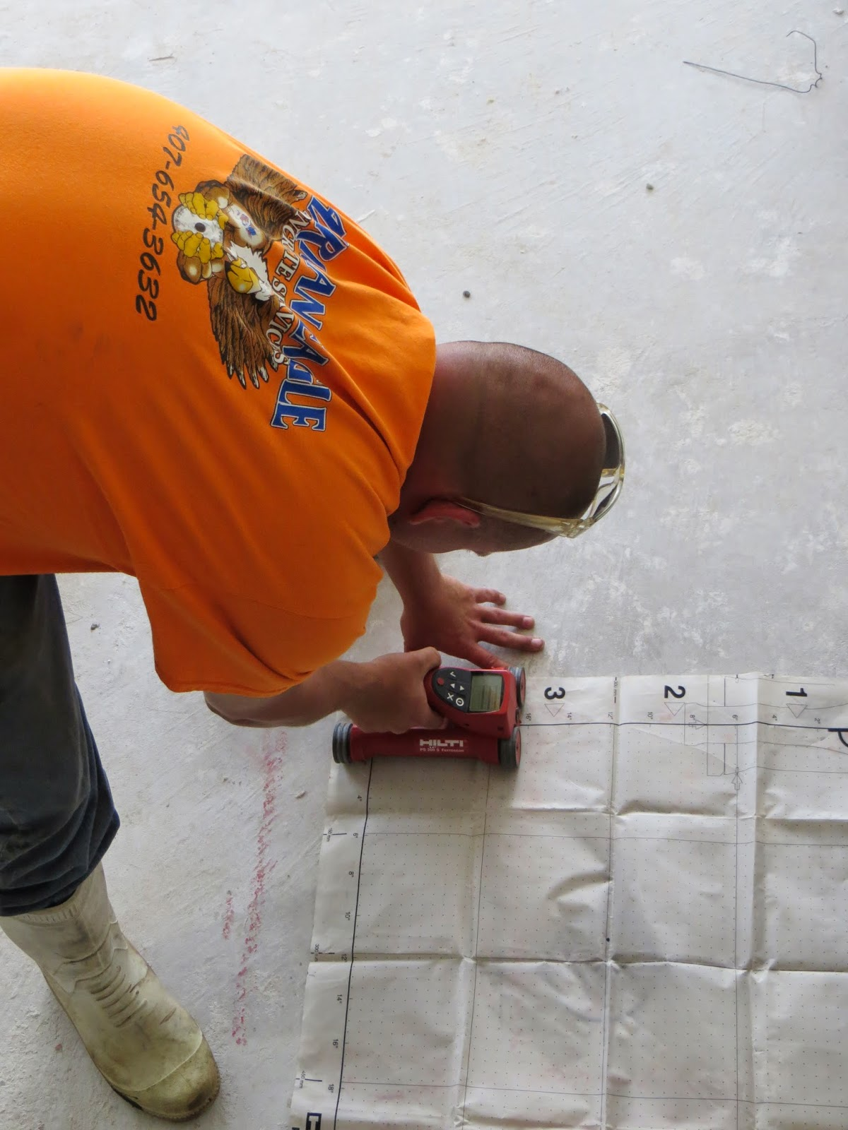 Concrete core drilling, concrete scanning