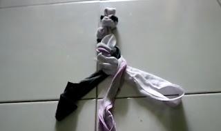 Kerajinan cara membuat Keset dari Baju, Kaos bekas dengan mudah tanpa dijahit