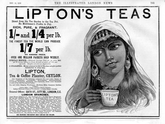 Lipton Tea Advertising 1892