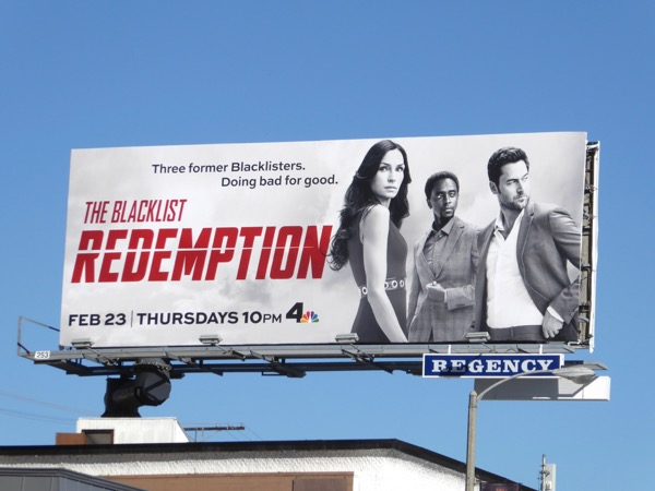 Blacklist Redemption series premiere billboard