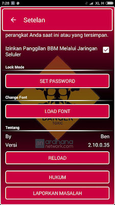Preview BBM Gradient Pink - BBM Android V2.10.0.35