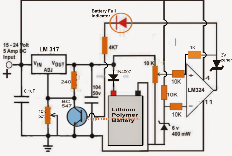Diagram Basic Lithium Ion Battery Charger Circuit Lithium Ion Battery