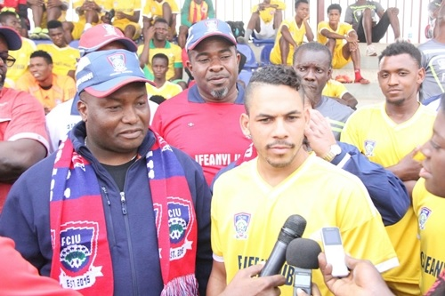 Billionaire Businessman, Ifeanyi Ubah Allegedly Caught on Camera Slapping Heartland FC Goalkeeper