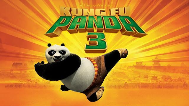 Cartel de una de las peliculas de cine de verano, KungFu panda 3