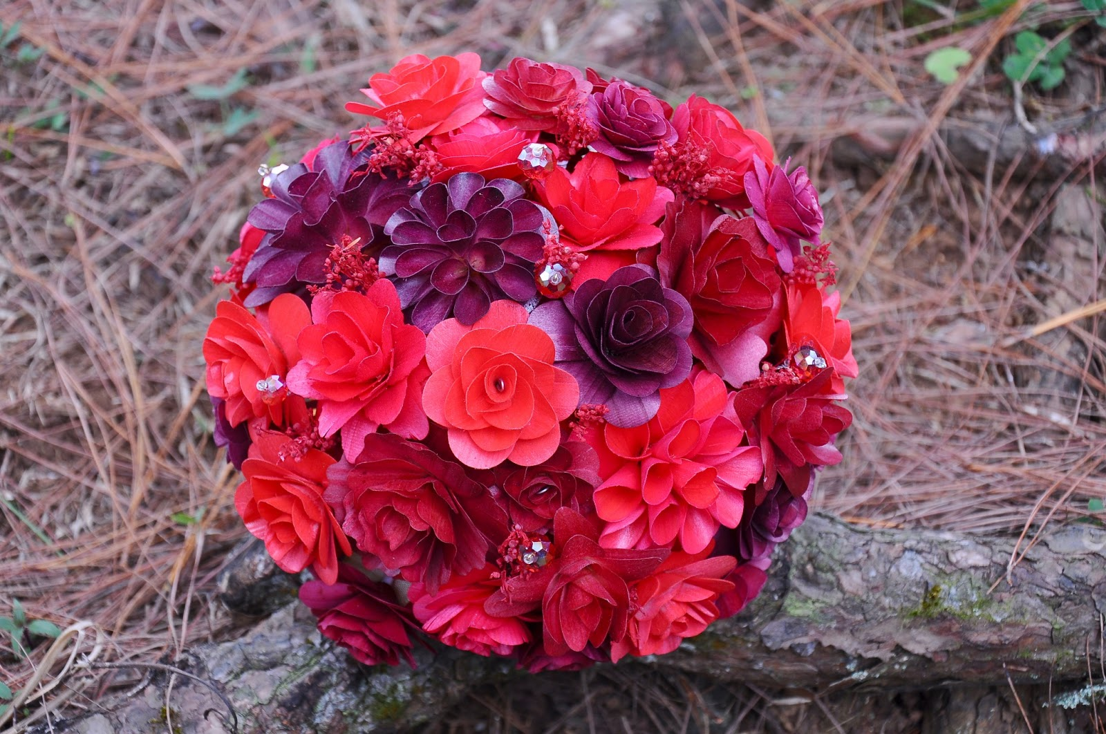 Wholesale Wedding Bouquets Made Of Wooden Flowers Reduce