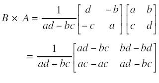 persamaan Invers Matriks Berordo 2 × 2