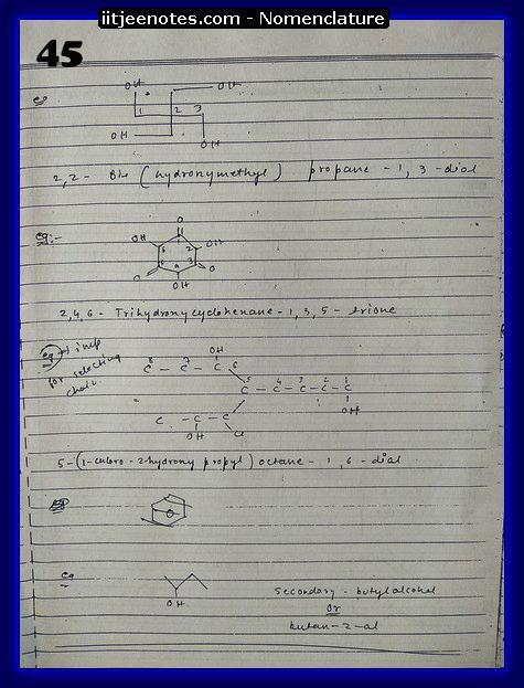 nomenclature organic2