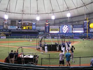 Home to center, Tropicana Field
