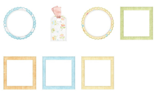 Borders and Frames of the Tender Things Clip Art.