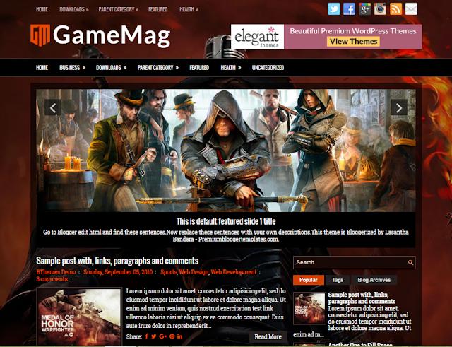 GameMag blogger template