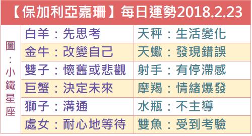 【保加利亞嘉珊】每日運勢2018.2.23