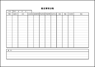 勤怠管理日報 015