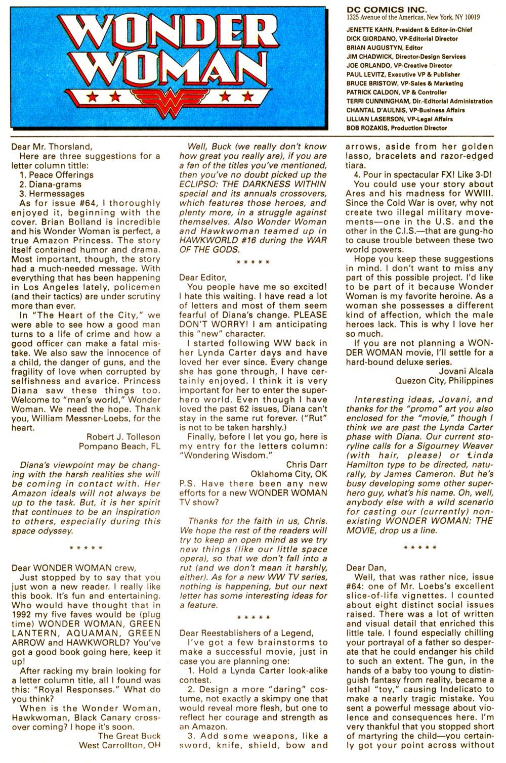 Read online Wonder Woman (1987) comic -  Issue #67 - 24