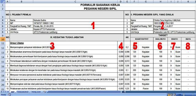 Contoh SKP CPNS Bidan
