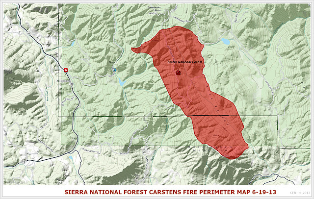 CA-SNF-#CarstensFire #Wildland Fire CA-SNF-1261, Midpines, Mariposa County 1,888 acres 40% contained #Cafire