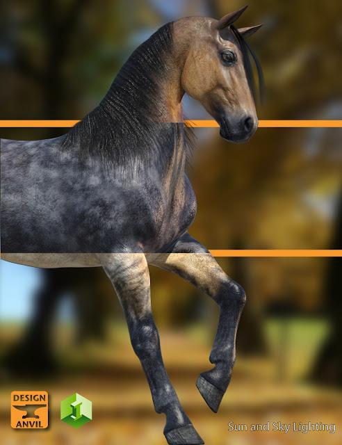 DA Horse 2 Iray Material Presets