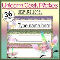 Unicorn Inspirational Desk Plates