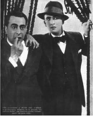 Tito Lusiardo y Hugo del Carril en 1937