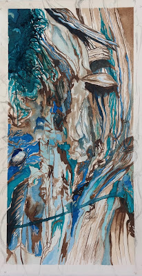 Jamin Carter | The Honesty of Teal | 6.75 x 13 | $100