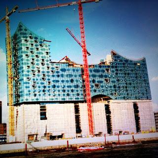 Photo einer Baustelle