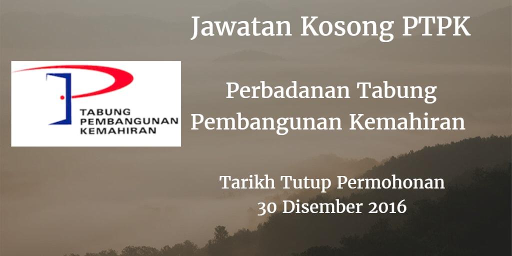 Jawatan Kosong PTPK 30 Disember 2016