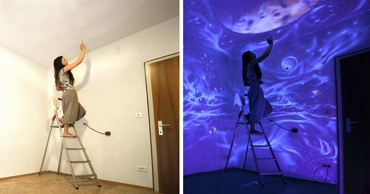 Decoraci n con murales que brillan en la oscuridad m gicos for Murales en paredes interiores