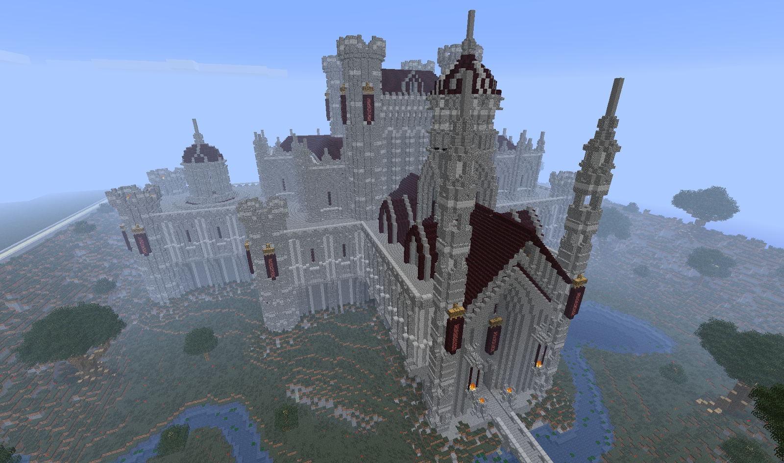 Ten epic minecraft castles for inspiration minecraft for How to build a house in a mountain