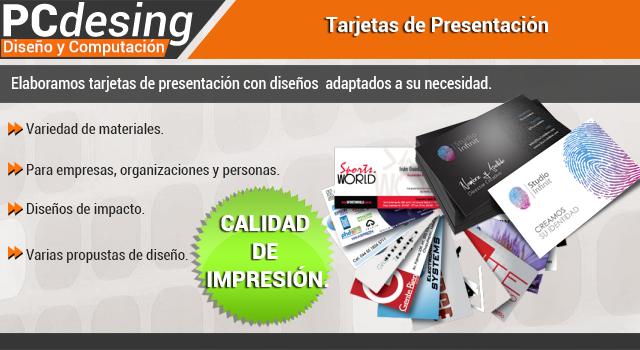 pcdesing diseño tarjetas de presentación