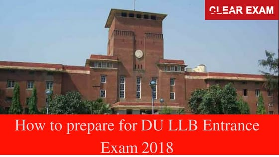 DU LLB entrance Exam 2018