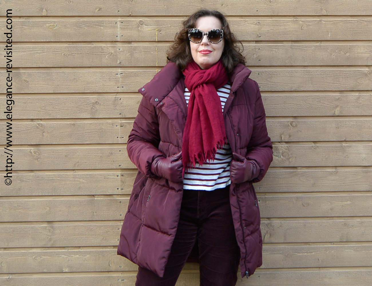 burgundy and plum winter style